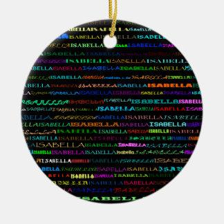 Isabella Text Design I Ornament
