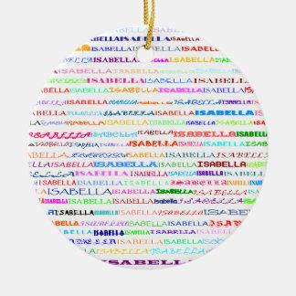 Isabella Text Design II Ornament