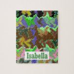 ISABELLA  - Wild Green Art from Naveen Jigsaw Puzzles