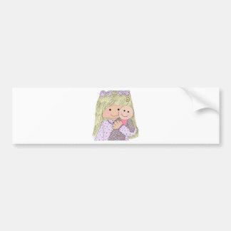 isabella-with-doll bumper sticker