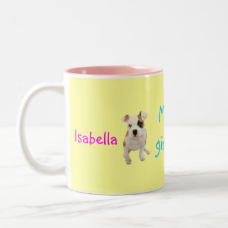Isabella's big girl mug