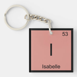 Isabelle  Name Chemistry Element Periodic Table Keychain
