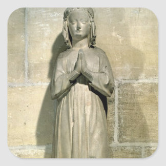 Isabelle of France (1292-1358) c.1304 (stone) Square Sticker
