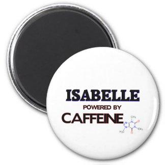 Isabelle powered by caffeine 2 inch round magnet