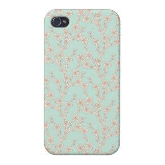 Isabelle: Rose Floral Print iPhone 4 Case