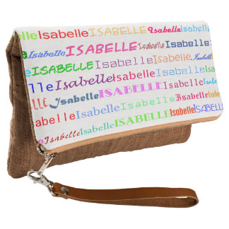Isabelle Text Design II Clutch