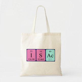 Isac periodic table name tote bag