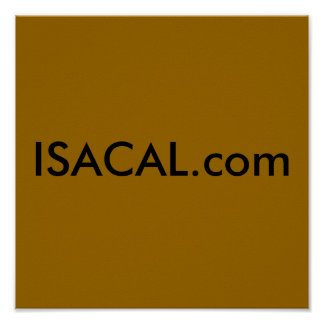 ISACAL.com Poster