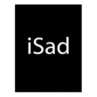 iSad - negro Tarjetas Postales