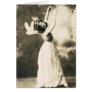 Isadora Duncan Dancing Card
