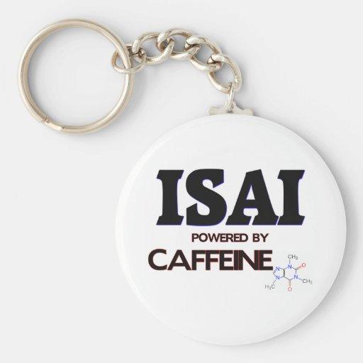 Isai powered by caffeine keychain