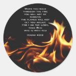 isaiah43:2 round stickers