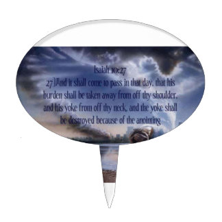 Isaiah 10:27 cake toppers