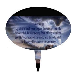 Isaiah 10:27 cake topper