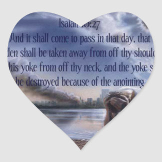 Isaiah 10:27 heart sticker