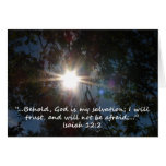 """Isaiah 12:2""  by Carter L. Shepard Greeting Cards"