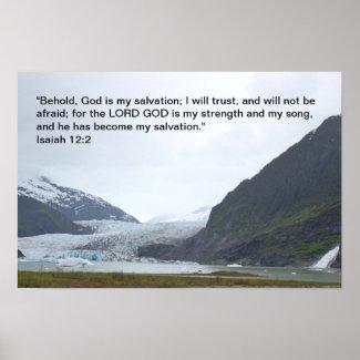 Isaiah 12:2 poster print