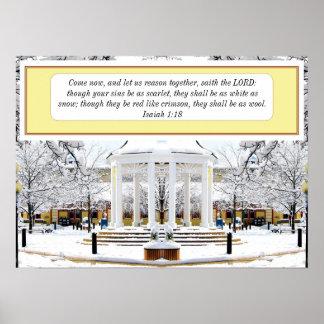 Isaiah 1:18 Snow Scene Poster