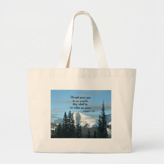 Isaiah 1:18 Though your sins be as scarlet... Large Tote Bag