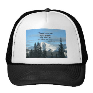 Isaiah 1:18 Though your sins be as scarlet... Trucker Hat