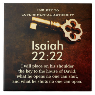 Isaiah 22:22 Key to the House of David Bible Verse Tile