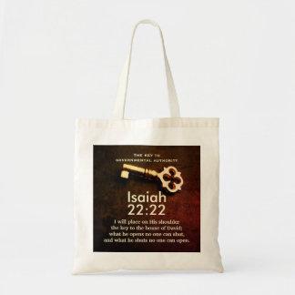 Isaiah 22:22 Key to the House of David Bible Verse Tote Bag