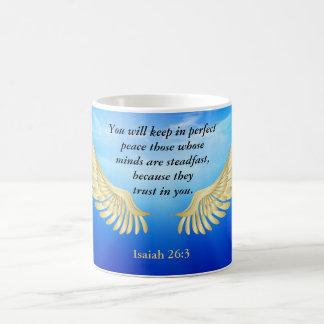 Isaiah 26:3 coffee mug