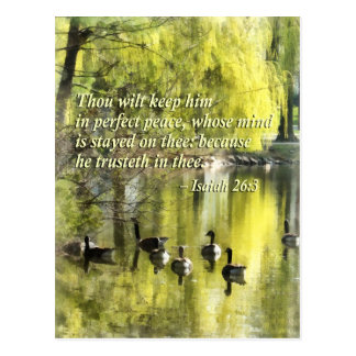 Isaiah 26-3 Thou wilt keep him in perfect peace Postcard