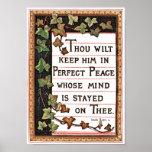 Isaiah 26:3 Victorian Scripture Poster