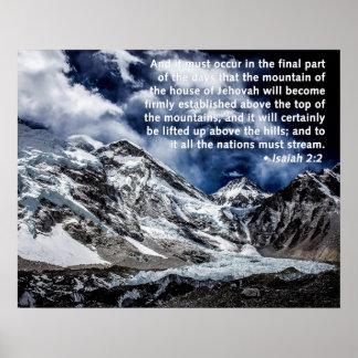 Isaiah 2:2 - Mountain Tops Print