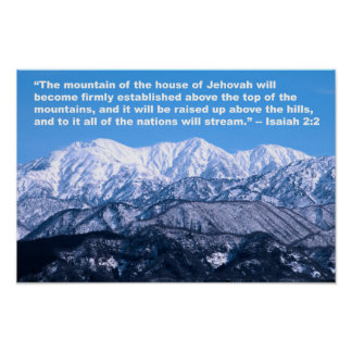 Isaiah 2:2 Tops of the Mountains Poster