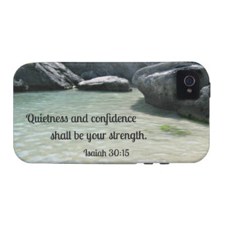 Isaiah 30:15 Quietness and confidence shall.... Case-Mate iPhone 4 Covers