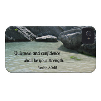 Isaiah 30:15 Quietness and confidence shall.... iPhone 4 Case-Mate Cases