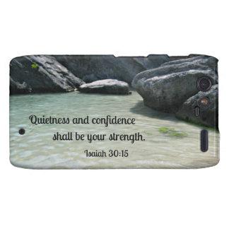 Isaiah 30:15 Quietness and confidence shall.... Motorola Droid RAZR Cases