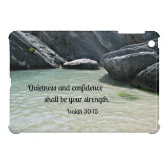 Isaiah 30:15 Quietness and confidence shall.... iPad Mini Covers