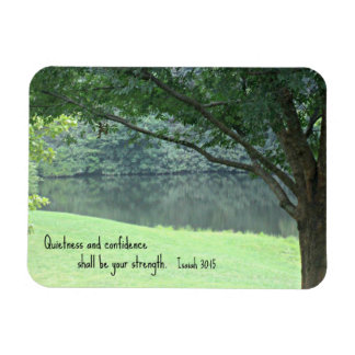 Isaiah 30 15 Quietness and confidence shall Rectangular Magnets