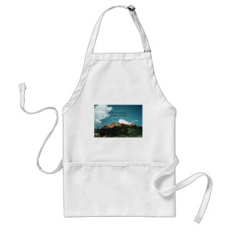 Isaiah 40:22 He sits enthroned above the circle... Adult Apron