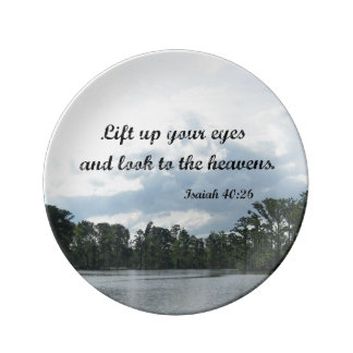 Isaiah 40:26 Lift up your eyes and look.... Dinner Plate