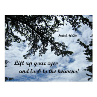 Isaiah 40:26 Lift up your eyes and look... Postcard