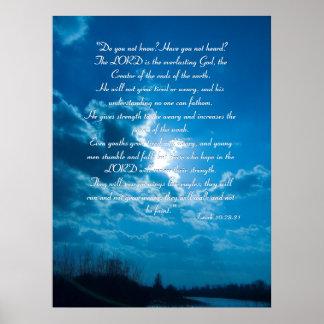 Isaiah 40 28-31 - Inspirational Poster