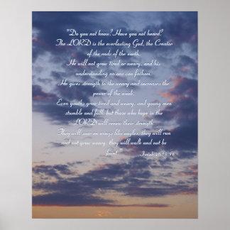 Isaiah 40;28-31 - Inspirational Poster