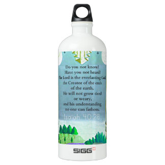 Isaiah 40:28 Inspirational BIBLE verse Water Bottle