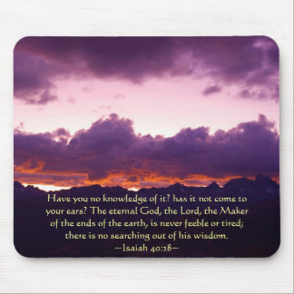 Isaiah 40:28 Sierra Sunset Mouse Pad