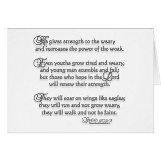 Isaiah 40:29-31 greeting card