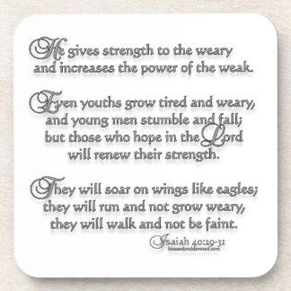 Isaiah 40:29-31 beverage coaster