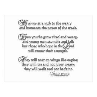 Isaiah 40:29-31 post card
