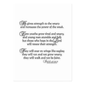 Isaiah 40:29-31 postcard