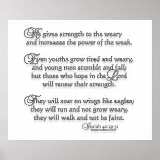 Isaiah 40:29-31 poster