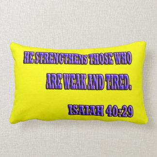 Isaiah 40:29 pillow