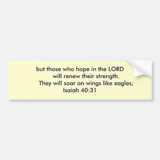 Isaiah 40:31 bumper sticker